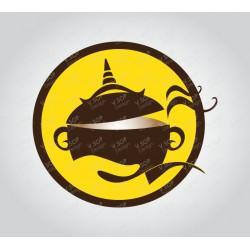 Thai Restaurant Logo Template Brown Pot