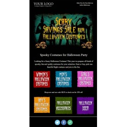 Email Template for Halloween Costumes Sale