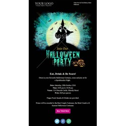 Email Template for Halloween Party Invitation