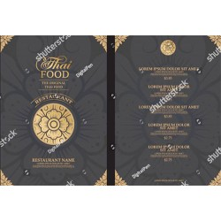 Thai Restaurant Menu Template