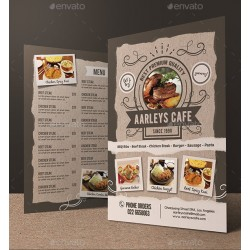 Trifold Brochure Restaurant Menu Template